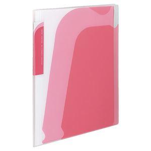(まとめ) コクヨ ポケットブック(ノビータ) チャックポケット付き A4タテ 約90枚収容 背幅10~25mm ピンク ラ-N205P 1冊 【×15セット】