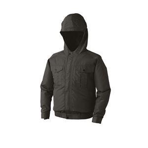 空調服 フード付き ポリエステル製長袖ワークブルゾン リチウムバッテリーセット BP-500FC69S4 チャコール 2L