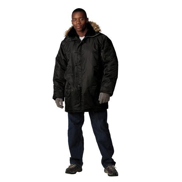 【マラソンでポイント最大43倍】ROTHCO(ロスコ) N-3Bミリタリージャケット ROGT9394 ブラック S