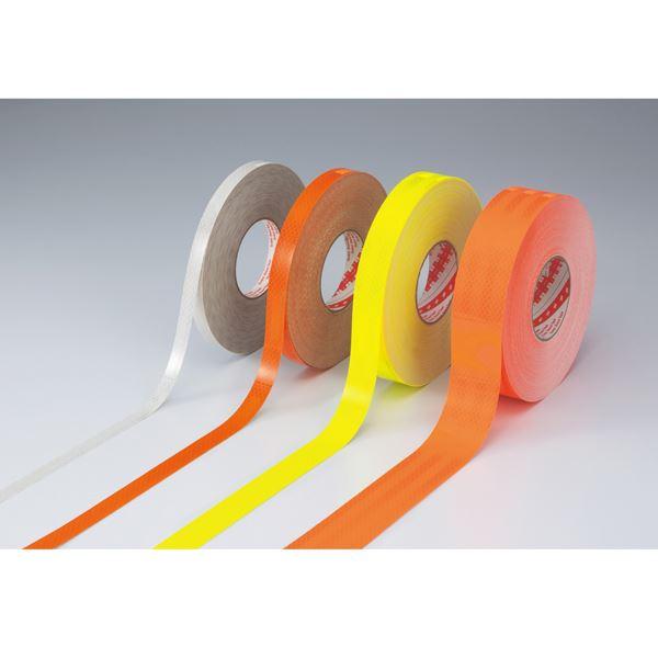 高輝度反射テープ SL3045-KYR ■カラー:蛍光オレンジ 30mm幅【代引不可】