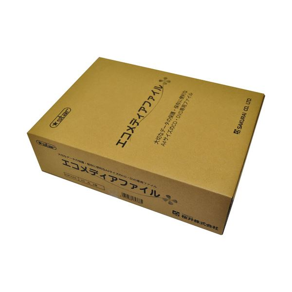 (まとめ) 桜井 エコメディアファイル A4 6穴 白 EMFA4W 1パック(5冊) 【×4セット】