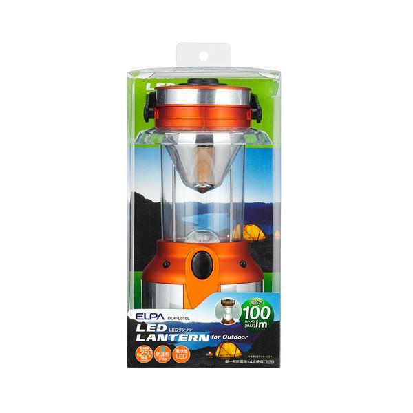 【スーパーセールでポイント最大44倍】(業務用セット) ELPA LEDランタン 電球色 100ルーメン 単1形4本 DOP-L010L 【×3セット】