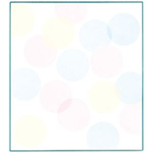 (業務用200セット) ミドリ 色紙 33124006 水玉ブルー