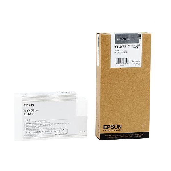 (まとめ) エプソン EPSON PX-P/K3インクカートリッジ ライトグレー 350ml ICLGY57 1個 【×3セット】