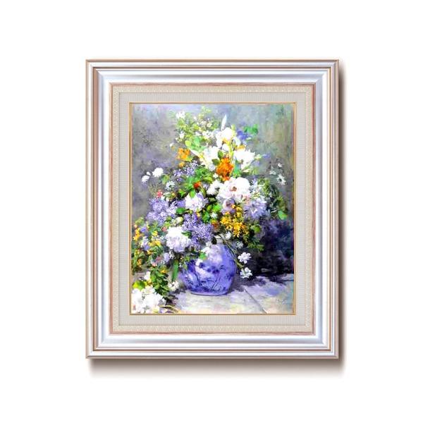 名画額縁/フレームセット 【F6AS】 ルノワール 「花瓶の花」 477×571×59mm 壁掛けひも付き