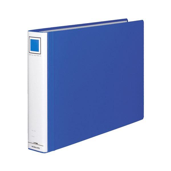 (まとめ) コクヨ チューブファイル(エコツインR) A3ヨコ 500枚収容 背幅65mm 青 フ-RT653B 1冊 【×4セット】