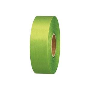 (業務用100セット) ジョインテックス カラーリボン黄緑 24mm*25m B824J-YG