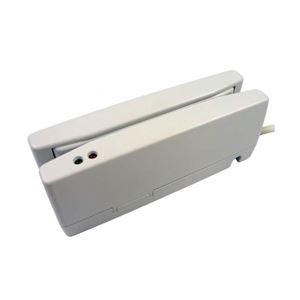 ウェルコムデザイン JIS1/JIS2両面読取対応磁気カードリーダ ホワイト USB-HID