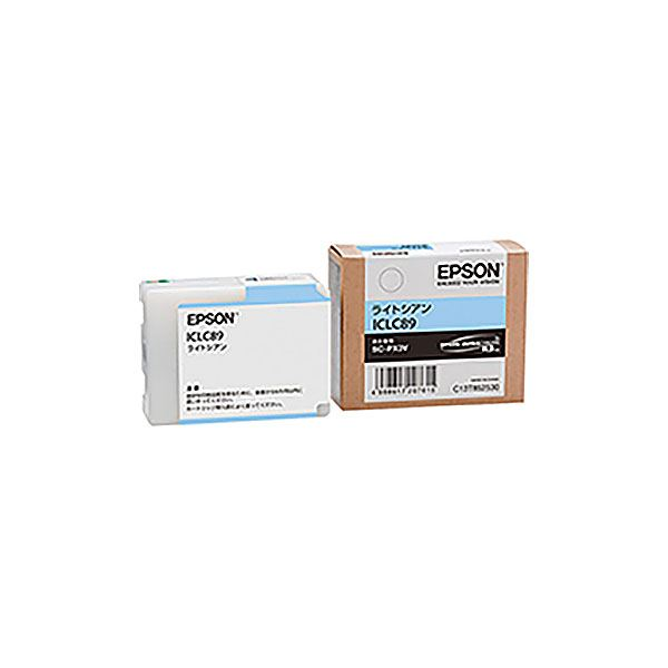(業務用3セット) 【純正品】 EPSON エプソン インクカートリッジ 【ICLC89 ライトシアン】