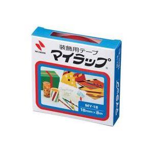 【スーパーセールでポイント最大44倍】(業務用200セット) ニチバン マイラップテープ MY-18 18mm×8m 赤