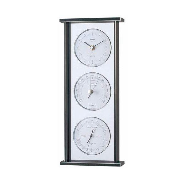 【マラソンでポイント最大43倍】EMPEX スーパーEX ギャラリー気象計・時計 EX-793 シルバー