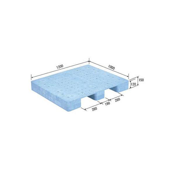 三甲(サンコー) プラスチックパレット/プラパレ 【単面型】 S-1012F ライトブルー(青)【代引不可】
