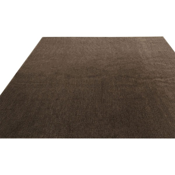 フリーカットができる 抗菌・防臭・防炎カーペット/絨毯 【江戸間6畳 261×352cm/ブラウン】 洗える 日本製 『ウェルバ』