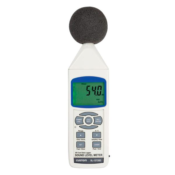 【マラソンでポイント最大44倍】騒音計(データロガー) 騒音計 SL-1373SD【代引不可】