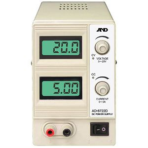 【マラソンでポイント最大43倍】A&D(エーアンドデイ)電子計測機器 直流安定化電源(20V、5A)AD-8722D【代引不可】