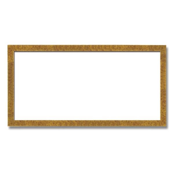 【長方形額】木製額 縦横兼用額 前面アクリル仕様 ■金(銀)長方形額(700×350mm)金柄紋