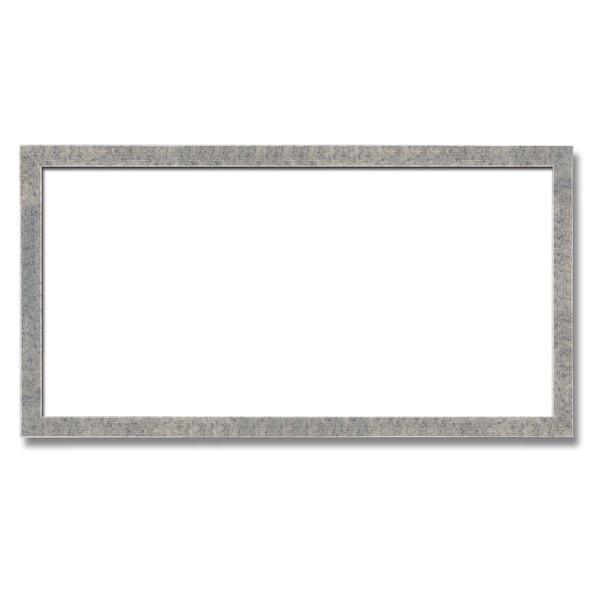 【長方形額】木製額 縦横兼用額 前面アクリル仕様 ■金(銀)長方形額(700×350mm)銀柄紋