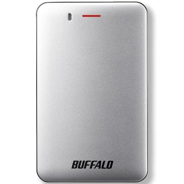 バッファロー 耐振動・耐衝撃 省電力設計 USB3.1(Gen1)対応 小型ポータブルSSD 480GBシルバー SSD-PM480U3A-S