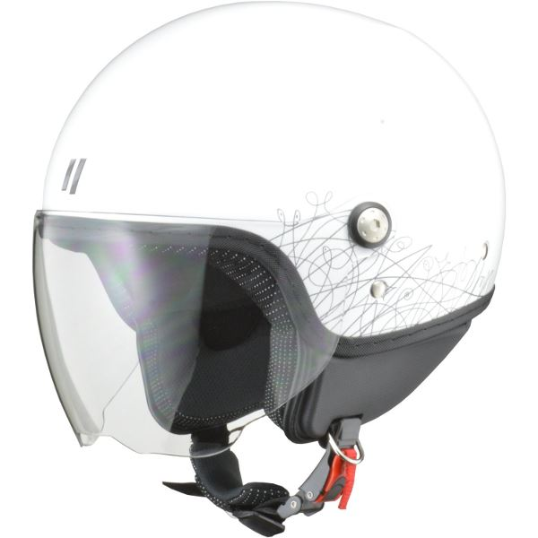 【マラソンでポイント最大43倍】リード工業 (LEAD) ジェットヘルメット PALIO ホワイト フリー