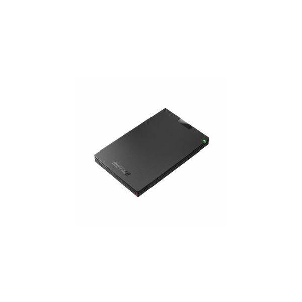 【マラソンでポイント最大43倍】BUFFALO バッファロー ミニステーション USB3.1(Gen1)/USB3.0 ポータブルHDD 500GB ブラック HD-PCG500U3-BA