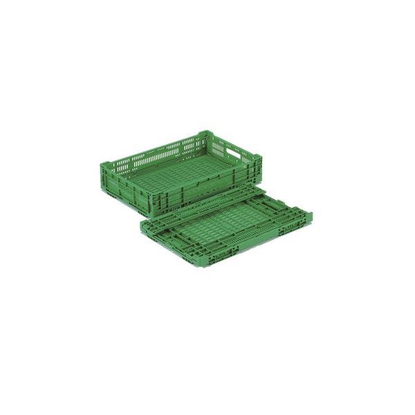 【10個セット】 折りたたみコンテナー/オリコン 【RS-MM22】 グリーン 材質:PP ワンタッチ組立【代引不可】