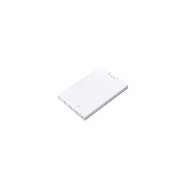 BUFFALO バッファロー ミニステーション USB3.1(Gen1)/USB3.0 ポータブルHDD 500GB ホワイト HD-PCG500U3-WA