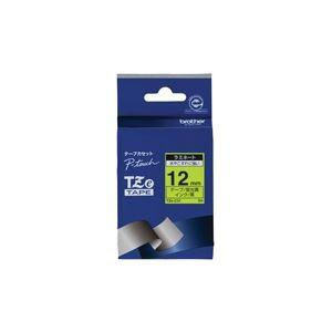 (業務用30セット) brother ブラザー工業 文字テープ/ラベルプリンター用テープ 【幅:12mm】 TZe-C31 蛍光 黄に黒文字