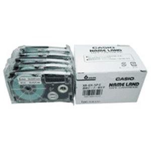 (業務用5セット) カシオ計算機(CASIO) テープ XR-6X-5P-E 透明に黒文字 6mm 5個