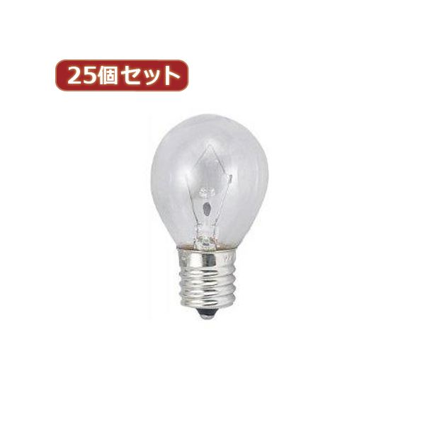 【スーパーセールでポイント最大44倍】YAZAWA 25個セット クリプトンミニランプ25W形クリア KS351722CX25