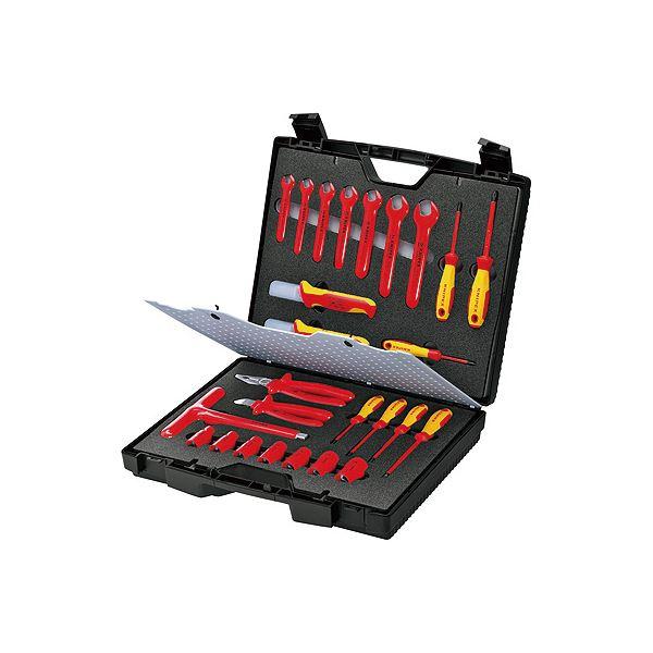 在庫限り 新生活 電気設備工事用絶縁ツールセット KNIPEX クニペックス 絶縁工具セット 989912
