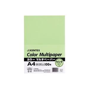 (業務用100セット) ジョインテックス カラーペーパー/コピー用紙 マルチタイプ 【A4】 100枚入り 鴬 A180J-2 ×100セット