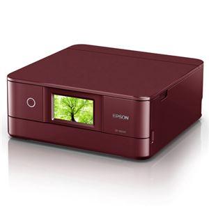エプソン A4インクジェットプリンター/カラリオ/多機能/6色/有線・無線LAN/Wi-FiDirect/両面/4.3型ワイドタッチパネル/レッド