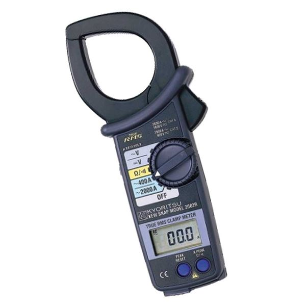 【マラソンでポイント最大43倍】共立電気計器 キュースナップ・交流電流測定用クランプメータ 2002R【代引不可】