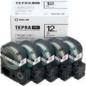 【スーパーセールでポイント最大44倍】(業務用5セット) キングジム テプラ PROテープ/ラベルライター用テープ 【幅:12mm】 5個入り SS12K-5P ホワイト(白)