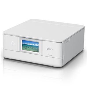 エプソン A4インクジェットプリンター/カラリオ/多機能/6色/有線・無線LAN/Wi-FiDirect/両面/4.3型ワイドタッチパネル/ホワイト