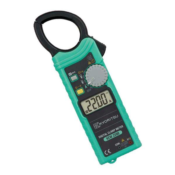 【マラソンでポイント最大43倍】共立電気計器 キュースナップ・交流電流測定用クランプメータ 2200【代引不可】