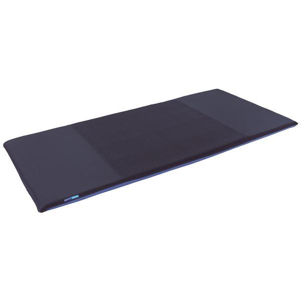高反発マットレス/寝具 【シングルサイズ ブルー】 三つ折り 洗える 『キュービックボディプレミアム』