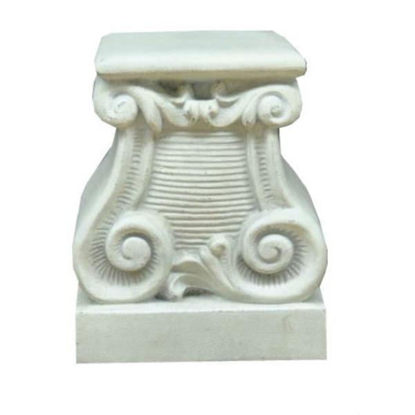 ファイバー製 軽量 植木鉢スタンド/プランタースタンド 【ホワイト 長さ38cm】 底穴なし 『バッセル用花台 プラッカーノ』