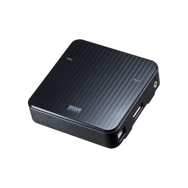 【マラソンでポイント最大43倍】サンワサプライ DisplayPort対応手元スイッチ付きパソコン自動切替器(2:1) SW-KVM2WDPU