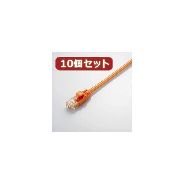 10個セット エレコム Gigabit やわらかLANケーブル(Cat6準拠) LD-GPY/DR5X10