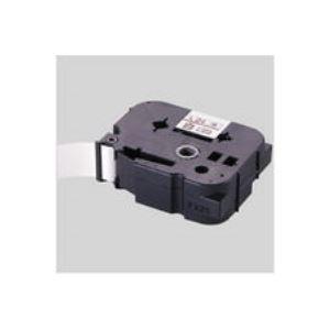 【マラソンでポイント最大43倍】(業務用30セット) マックス 文字テープ LM-L512BR 赤に黒文字 12mm