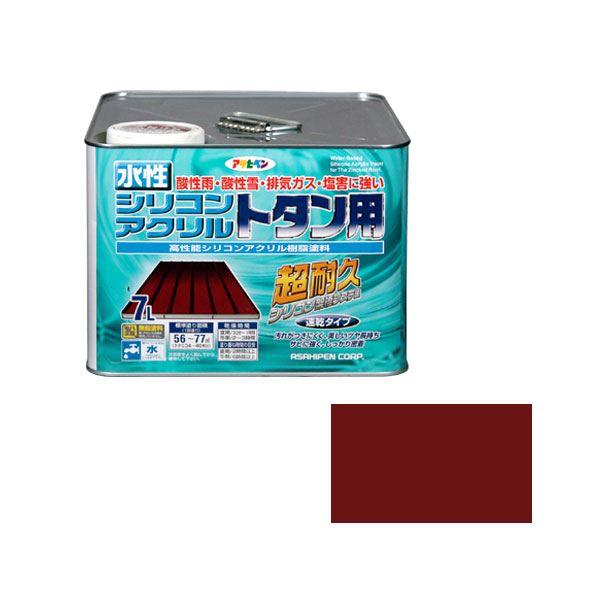 【マラソンでポイント最大43倍】アサヒペン AP 水性シリコンアクリルトタン用 7L 赤さび