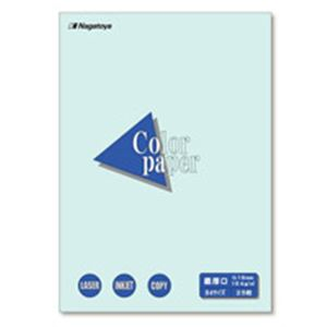 (業務用100セット) Nagatoya カラーペーパー/コピー用紙 【B4/最厚口 25枚】 両面印刷対応 水