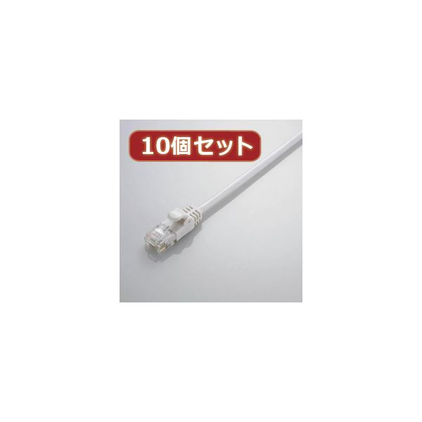 10個セット エレコム Gigabit やわらかLANケーブル(Cat6準拠) LD-GPY/WH5X10
