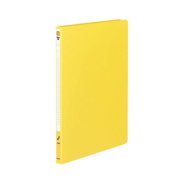 (まとめ) コクヨ レターファイル(色厚板紙) A4タテ 120枚収容 背幅20mm 黄 フ-550Y 1冊 【×20セット】