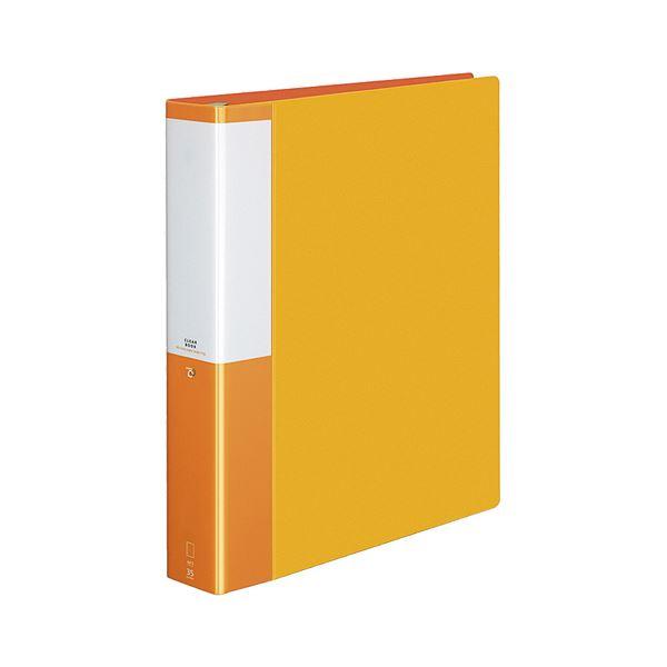 (まとめ) コクヨ クリヤーブック(クリアブック)(POSITY) 替紙式 A4タテ 30穴 35ポケット付属 背幅53mm オレンジ P3ラ-L740YR 1冊 【×5セット】