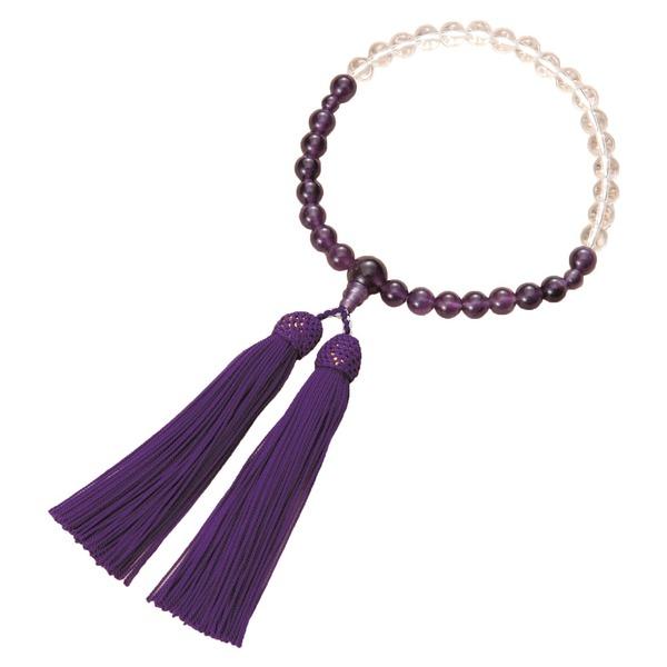 【スーパーセールでポイント最大43倍】紫水晶御念珠(グラデーションタイプ)