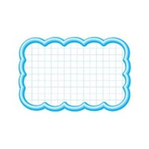 (業務用100セット) タカ印 抜型カード 16-4117 雲形中 ブルー