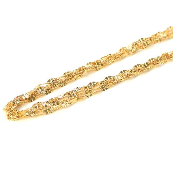 【スーパーセールでポイント最大44倍】造幣局検定刻印入り 純金 k24 クローバー 5連 ネックレス チェーン 【代引不可】