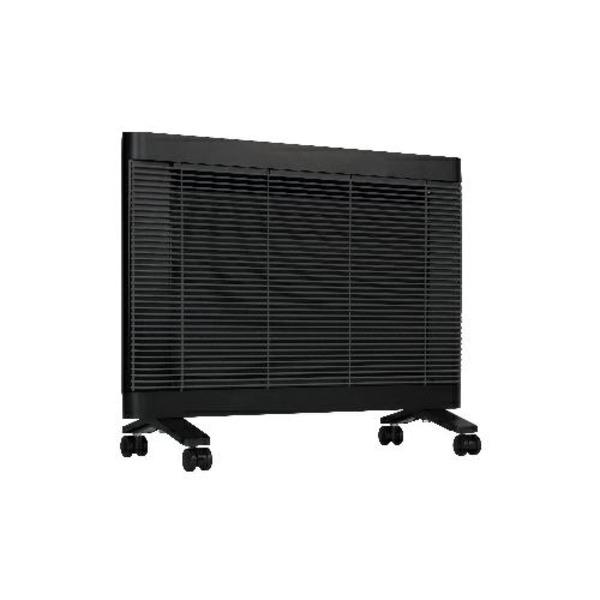 インターセントラル 遠赤外線ヒーター/電気暖房機 【4~6畳 ブラック】 チャイルドロック機能付き